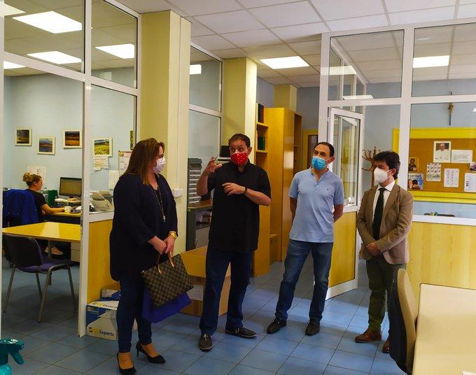 El Alcalde de Huesca agradece a Cáritas Huesca su trabajo