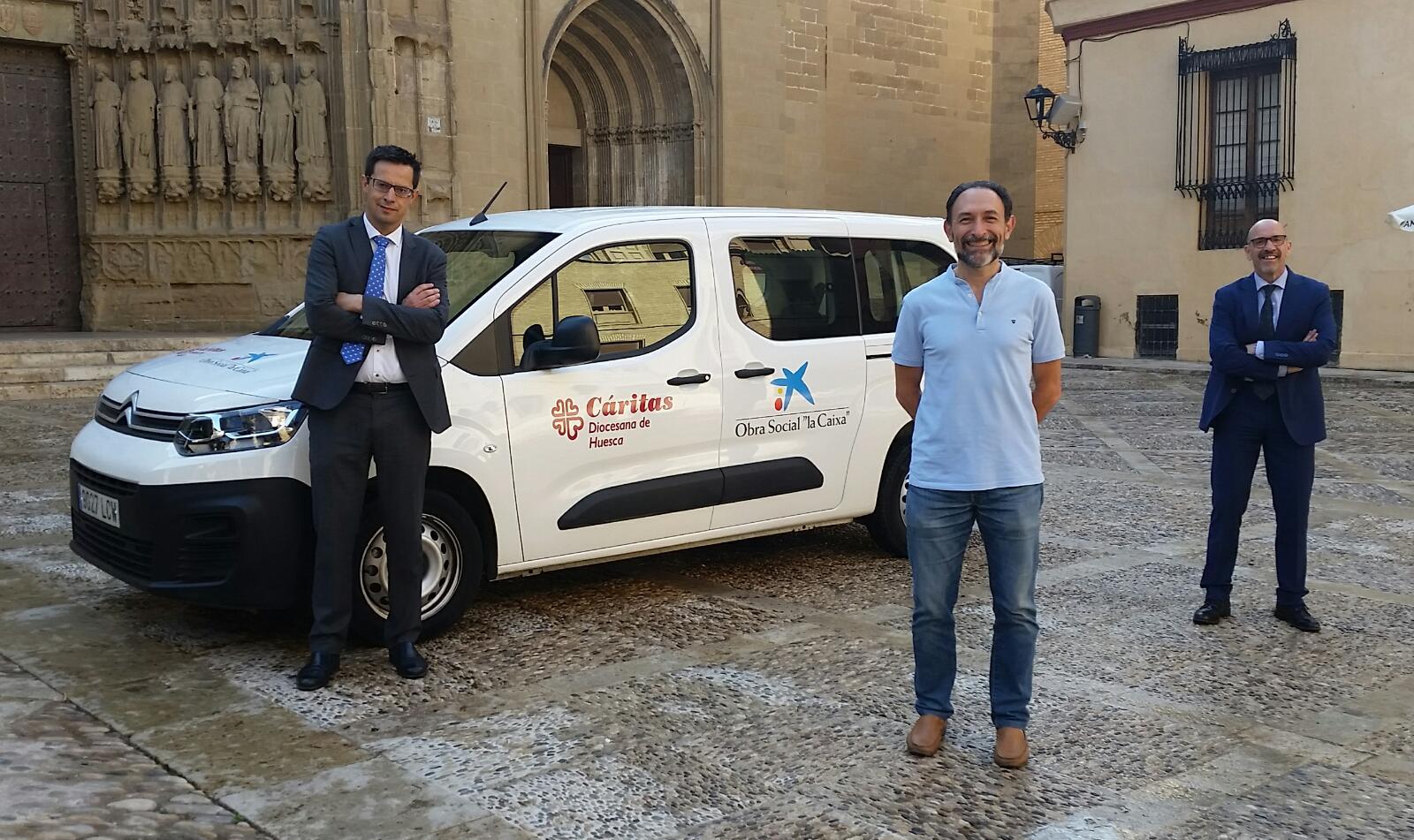 """CaixaBank, Fundación """"la Caixa"""" y Cáritas Diocesana de Huesca suman fuerzas"""