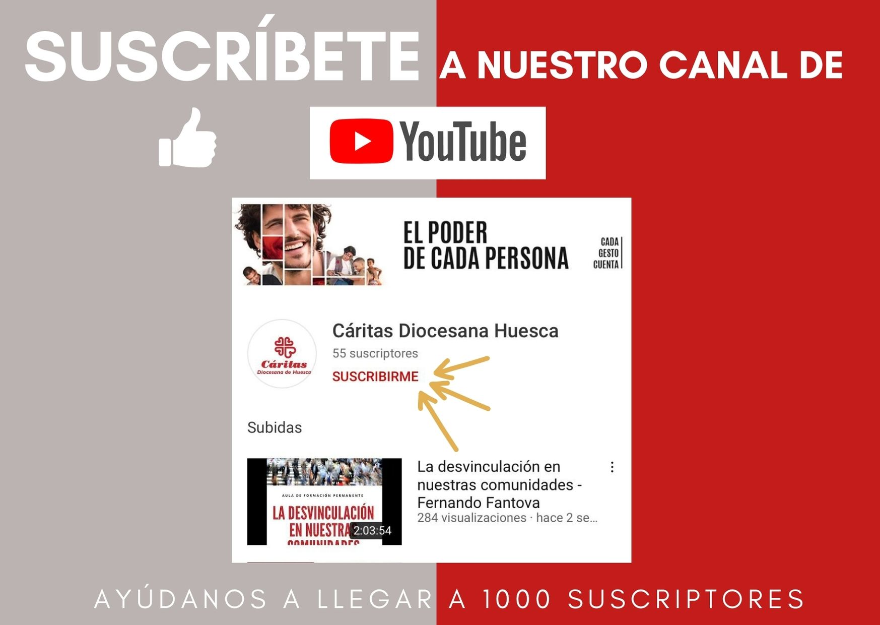 Cáritas Huesca ya está en YouTube