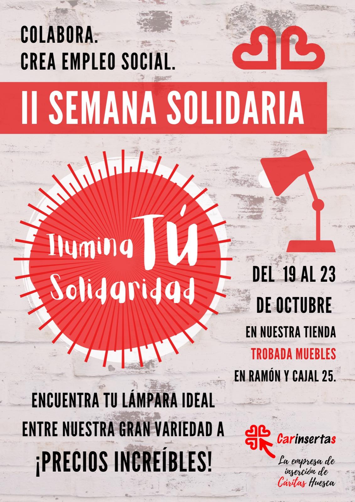 Carinsertas anima a iluminar la solidaridad
